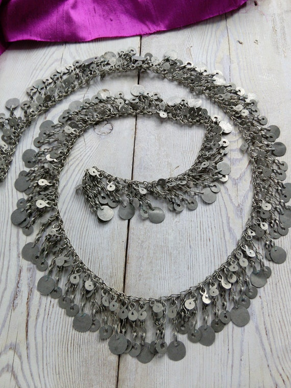 "Vintage Kuchi Tribal Jewelry Chain 40"" x 1.5"" (#6292)"
