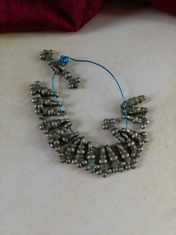 Vintage Tribal Spacer Charms Buds Ethnic Findings 20 Pieces (#7276)