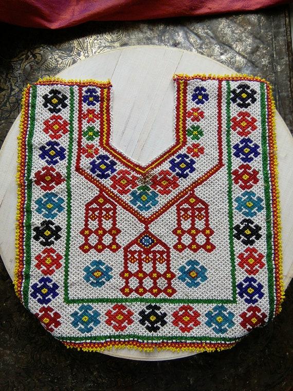 Beaded Kuchi Tribal Dress Yoke for Upcycling (#6301)