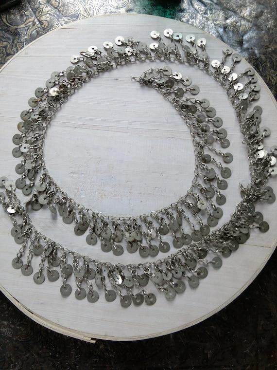 "Vintage Kuchi Tribal Jewelry Chain 46"" x 1.75"""