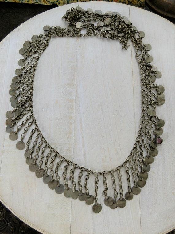 "Vintage Kuchi Tribal Jewelry Chain 33"" x 1.75"" (#6887)"