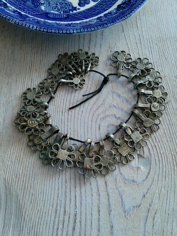 Hazara Tribal Flower Charms Brass Mixed Set of 25 Pieces (#7340)