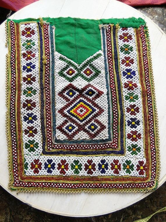 Beaded Kuchi Tribal Dress Yoke for Upcycling (#6300)