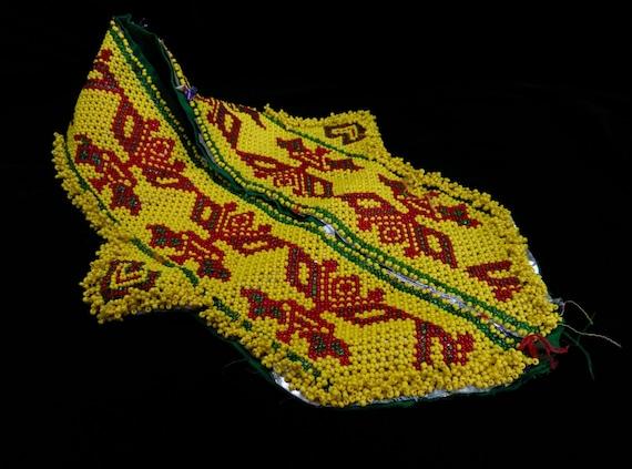 "23"" Kuchi Yellow Textile Applique Ethnic Bags Crafts DIY Tribal Dance ATS Belts Jean Jackets"