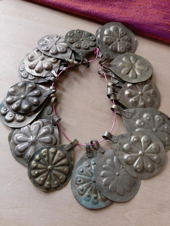 Turkmen Abbasi Vintage Tribal Pendant Amulets with Bails