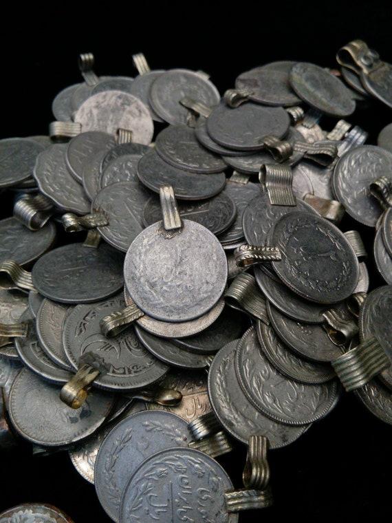 25 Medium Vintage Kuchi Tribal Coins