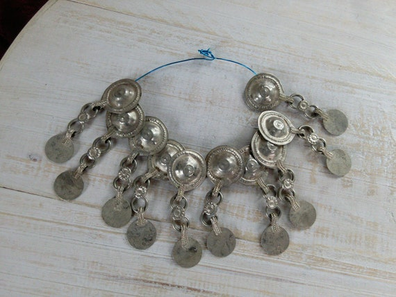 Tribal Buttons Assorted 10x with Round Dangle Accent (#7298)