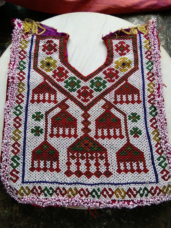 Beaded Kuchi Tribal Dress Yoke for Upcycling (#6299)
