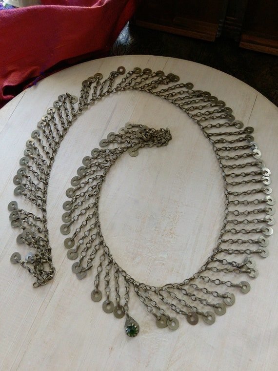 "Vintage Kuchi Tribal Jewelry Chain 34.5"" x 1.75"""