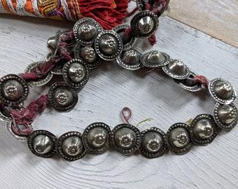 30 Vintage Waziri Buttons on String Polished Shiny Similar Style (#9182)