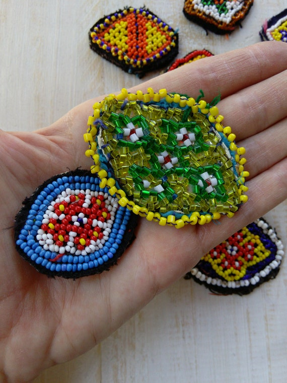 10x Evil Eye Style Tribal Patches (#6546)