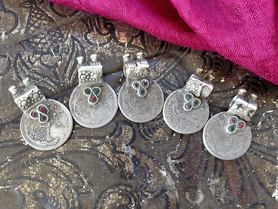 Vintage Tribal Coins Unique Waziri Bail Old Findings 5x (#6451)