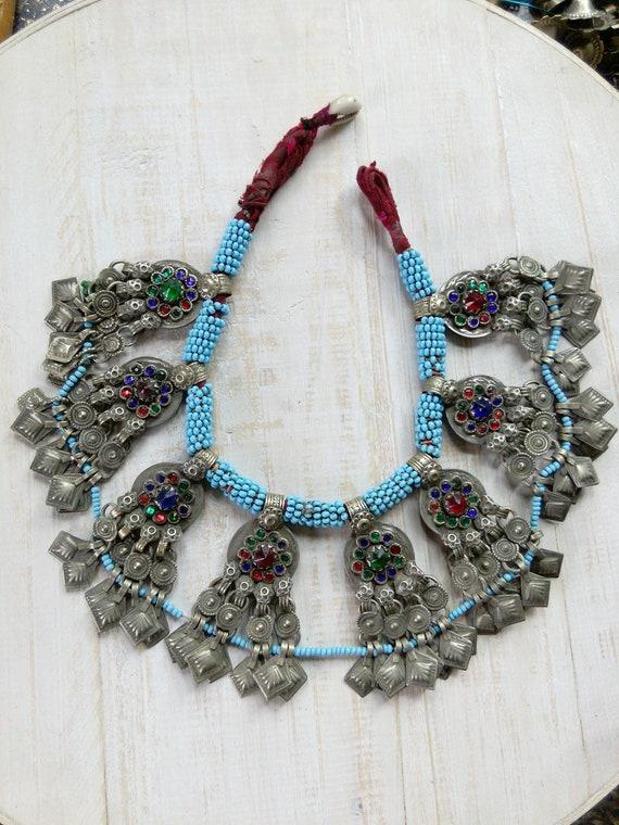 Vintage Tribal Pendant Choker Balochi Ethnic Adornment (#6553)