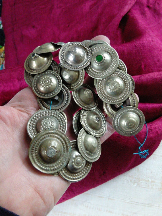 Vintage Tribal Buttons Old Notions Mixed 25x (#7296)