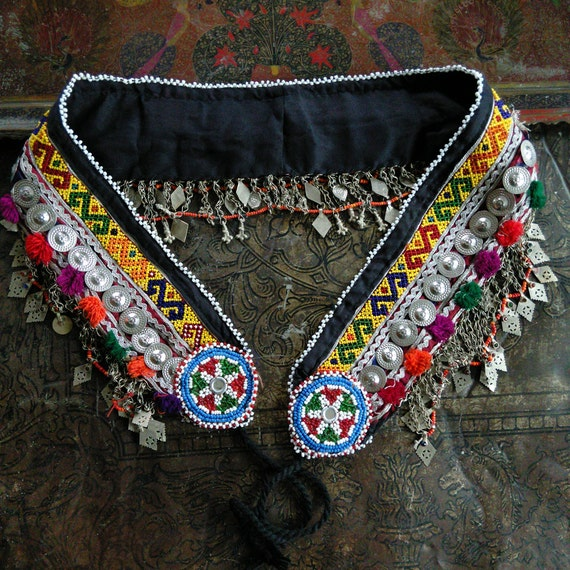 "ATS or Tribal Dance Belt Size 38"" - 50"" Beautiful Chain and Accents"