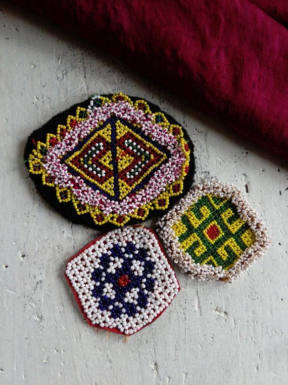 Kuchi Gul Mixed Appliques 3 Pieces