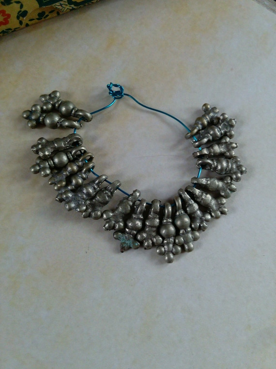 Vintage Tribal Spacer Charms Buds Ethnic Findings 20 Pieces (#7282)