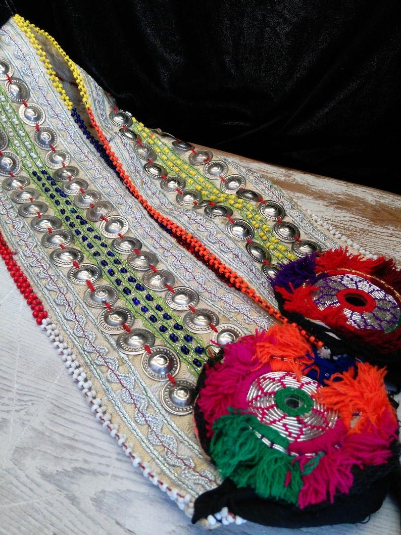 50 Turkoman TINY BUTTONS BellyDance Kuchi Tribal NEW Reproductions