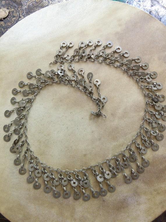 "Vintage Kuchi Tribal Jewelry Chain 28"" x 1.75"""