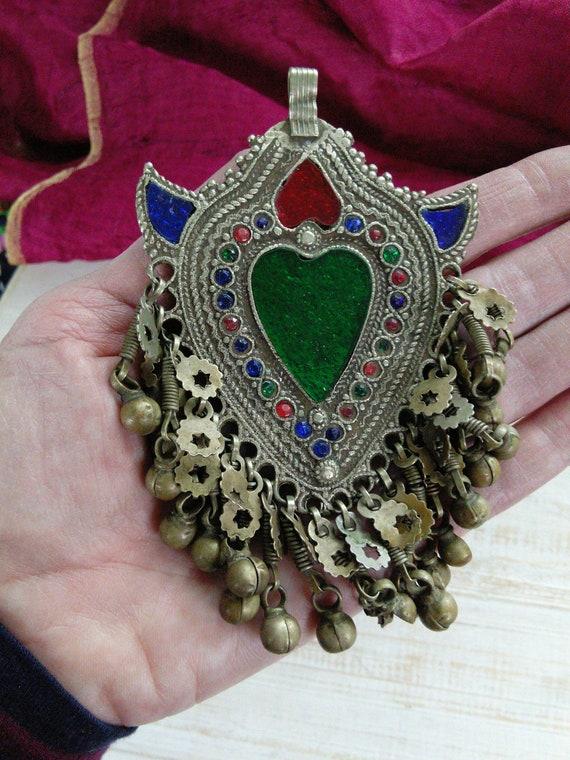 Kuchi Nomad Tribal Pashtun Heart Pendant Abundance and Love Talisman (#7140)