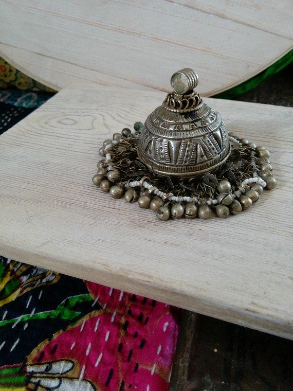 Vintage Tribal Jewelry Pendant VERY Big Ethnic Adornment Finding (#7255)