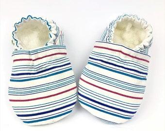 a28e946b0bb9c Stripe baby shoes | Etsy