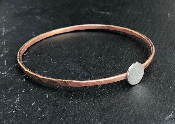 prix Couleurs variées meilleur site web Bracelet cuivre, bracelet de cuivre, bracelets pour femme, bijoux argent et  cuivre