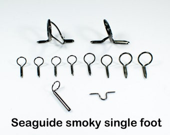 Smoky single foot Seaguide fly rod guide sets