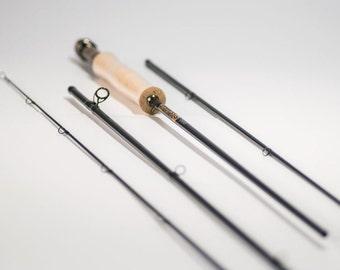 TNH905 9' #5 Taniwha Nano-helix semi-custom fly rod: premium high modulus carbon fibre fast action
