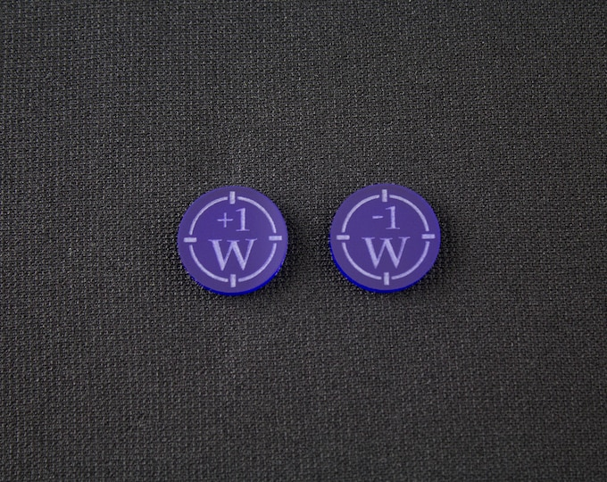 Warhammer - +1/-1 To Wound Markers
