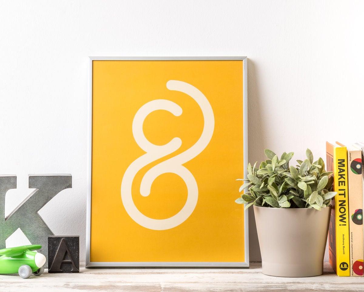 Typography poster Custom type print Inspiring wall art | Etsy