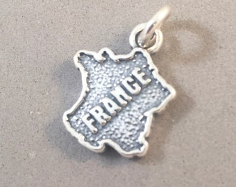 Sterling Silver ILLINOIS State Map Outline Word Dangle Charm Bead For Bead Charm Bracelet