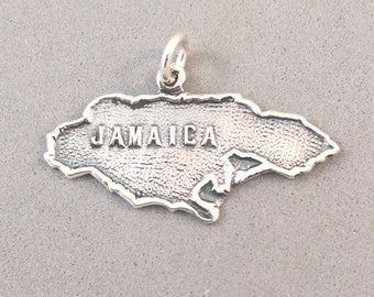Sterling Silver Outline Map Of Country Of China Word Charm