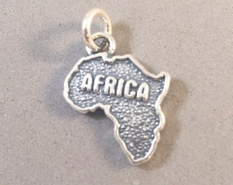 Sterling Silver GEORGIA State Map Outline Word Dangle Charm Bead For Bead Charm Bracelet