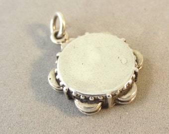 .925 Sterling Silver 3-D SAILOR CAP CHARM Pendant Hat Navy Seaman NEW 925 WK14