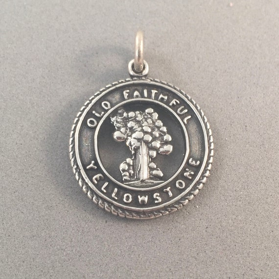 Solid 925 Sterling Silver Washington State Sm Pendant in Circle