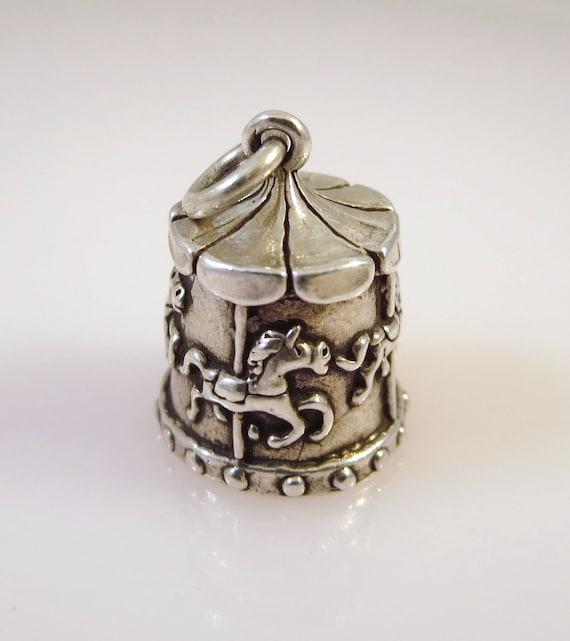 Pendant Carousel Charm Pony Charm Antique Silver Circus Charm Horse Jewelry