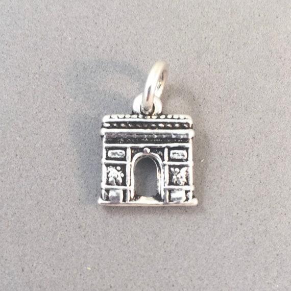 Sterling Silver 3D Paris France Arc De Triomphe Charm