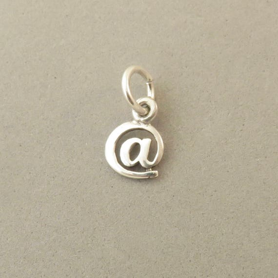 Keyboard Sign 925 Sterling Silver Charm Pendant At Symbol Etsy