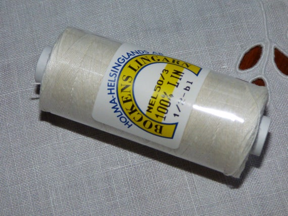 fil en lin bockens  blanc  60//2
