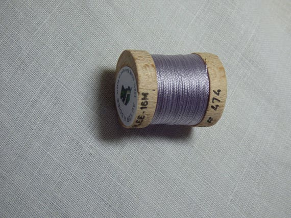 16 Yards 14.6 Meters 100/% Silk Thread-Ecru Size FF