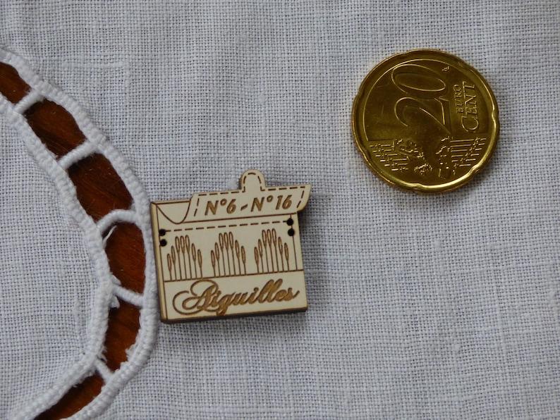 Wooden needles ivory collar button