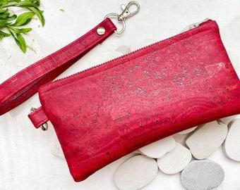 Personalised Vegan Cork Leather Purse Vegan Leather Purse Gift Idea Eco Friendly Sustainable Vegan Gifts