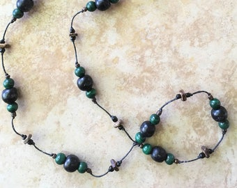 Beaded Necklace, Long Necklace, Knotted Necklace, Woman Gift, Bohemian, Long Necklace, Gypsy, Hippie Necklace, Gift