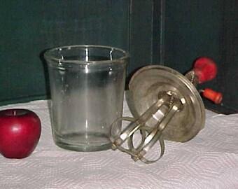 Primitive Beater Jar-Antique Pyrex Beater Jar Outift