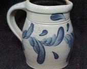 Vintage Stoneware Creamer Pitcher-Rowe Pottery Works-1988-FREE SHIP