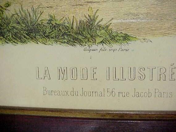 La mode illustree bureaux du journal rue jacob paris framed etsy
