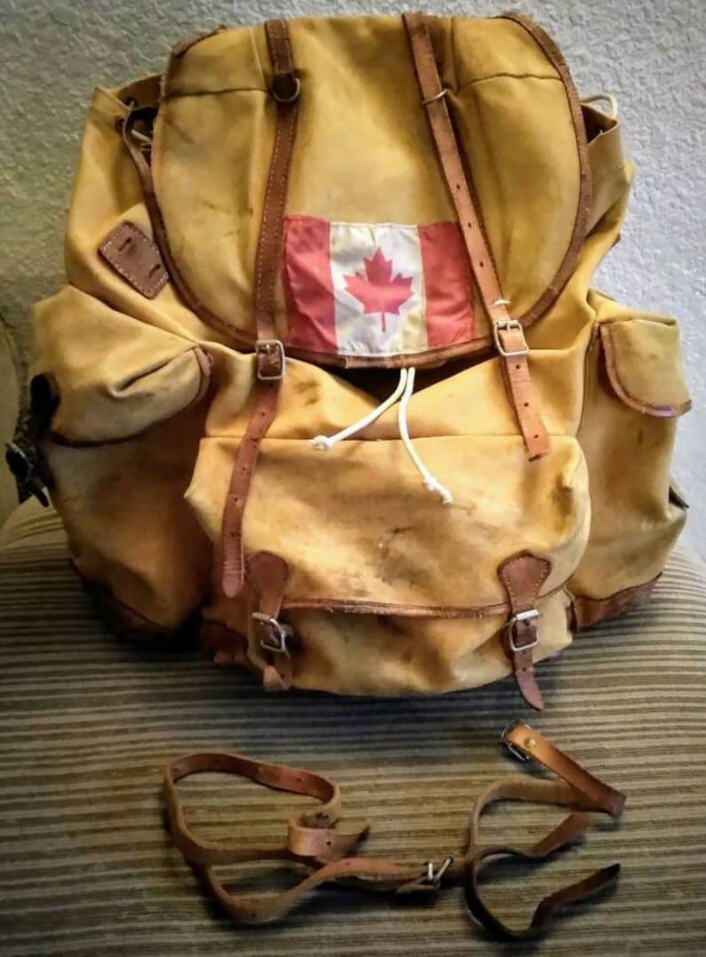 Vintage Canadian military backpack