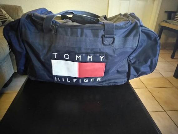 Vintage Tommy Hilfiger Duffle Bag   Etsy 69eab50ec2