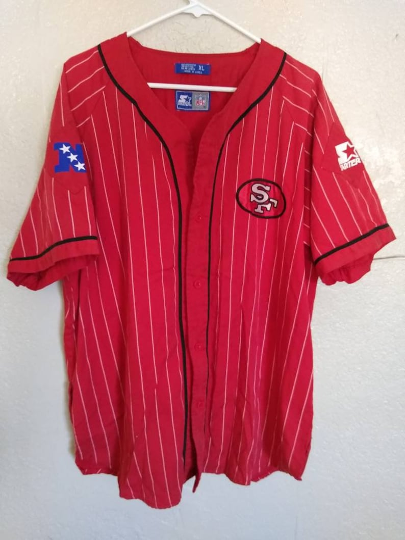 the best attitude 3f681 5466a Vintage Starter 49ers baseball jersey